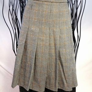 Vtg. Pendleton Wool Carnegie Plaid Pleated Skirt
